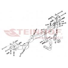 Фаркоп (АНАЛОГ ОРИГИНАЛА) Steinhof K-035 для Hyundai Santa Fe 2012- (2500/100) Прячущийся подрозетник под бампер