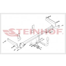Фаркоп Steinhof M-044 для Mazda 6 (GJ) cедан 2013- (1800/75)