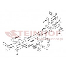 Фаркоп Steinhof O-093 для Opel Antara (C105) 2006- (2150/80)