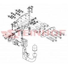 Фаркоп Steinhof T-172 для Toyota Land Cruiser 200 2007- (3500/150) подрозетик не убирается